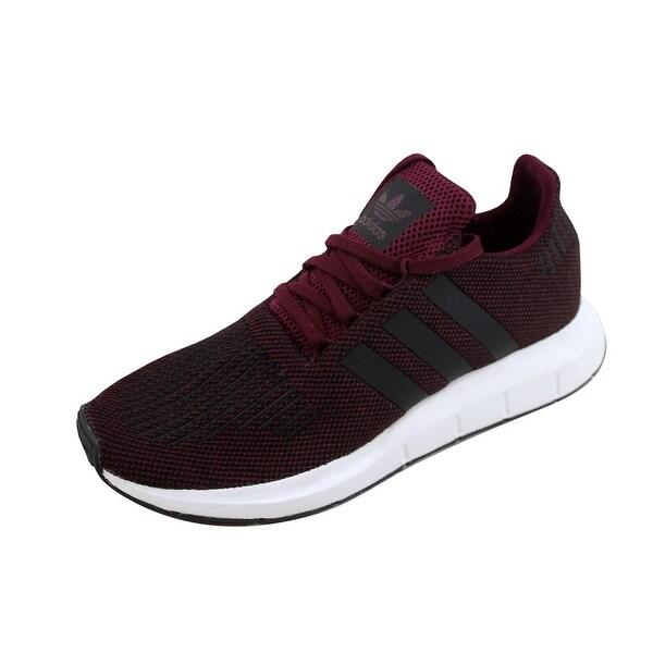 7d26525873c2 Shop Adidas Men s Swift Run Maroon Black-White CQ2118 - Free ...