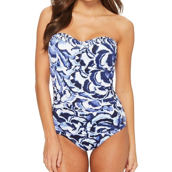 e3bcebde8cc Tommy Bahama Blue Women's Size 6 One-Piece Floral Printed Swimwear