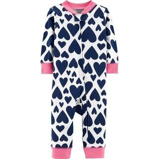 Carter's Baby Girls' 1 Piece Snug Fit Cotton Romper