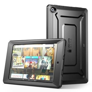 Fire HD 10 Case, Supcase, Unicorn Beetle Pro Series,  Protective Cover with Built In Screen Protector-Black/Black