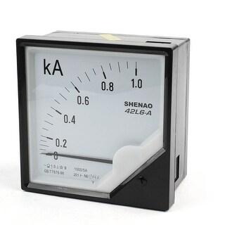 Unique Bargains AC 0-1.0kA Class 2.5 Accuracy Analog Ammeter Amperemeter Gauge 42L6-A