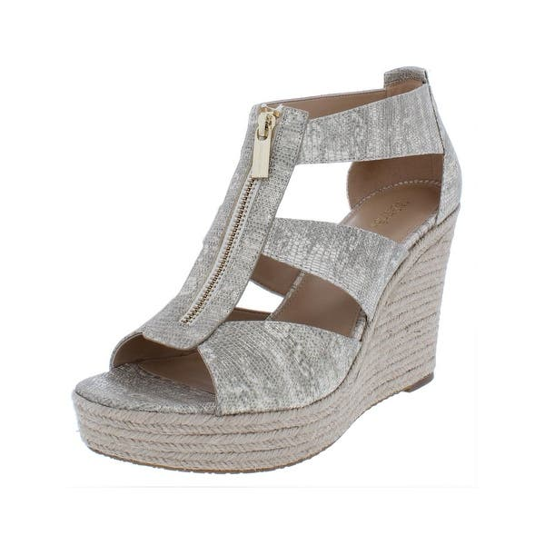 c019d31c7295 MICHAEL Michael Kors Womens Damita Wedge Sandals Open Toe Espadrille - 11  medium (b