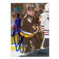 Ron Francis Autographed Hockey Card Pittsburgh Penguins 1996 Fleer