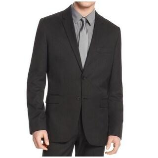 Calvin Klein NEW Deep Black Mens Size XL Two Button Slim-Fit Blazer