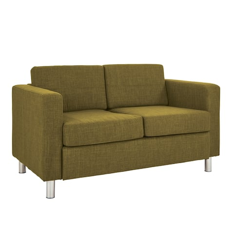 Pacific Love Seat with Chrome Legs