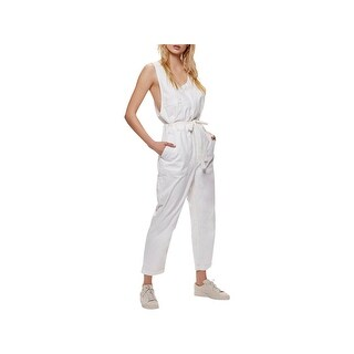 Free People Womens Jumpsuit Denim Cropped