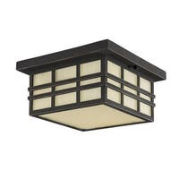"""Park Harbor PHEL1604 Ambler 12"""" Wide 2 Light Flush Mount Outdoor Ceiling Fixture"""