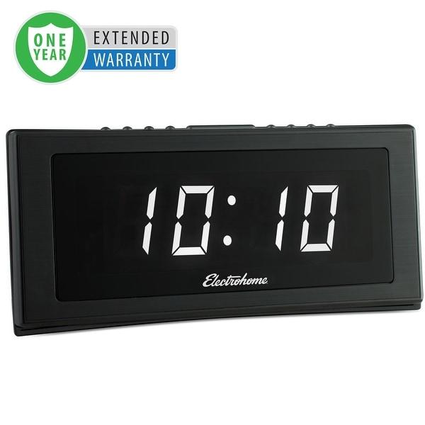 "Electrohome 1.8"" Jumbo LED Alarm Clock Radio with Battery Backup - 1 Year Extended Warranty"