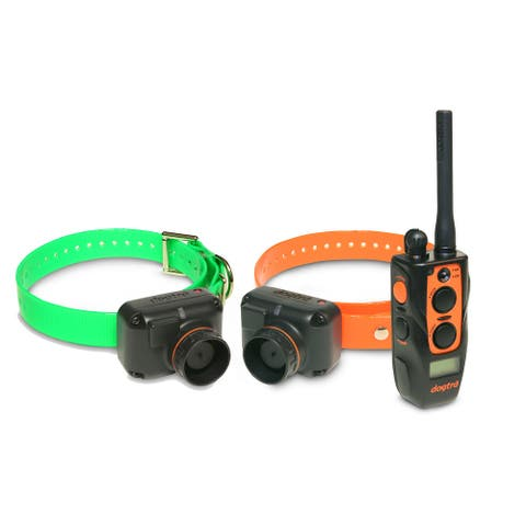 Dogtra Training and Beeper 1 Mile 2 Dog Remote Trainer - 1 orange and 1 green collar