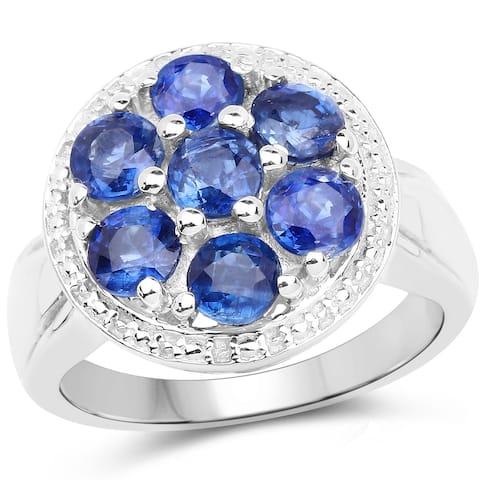 Malaika 2.60 Carat Genuine Kaynite .925 Sterling Silver Ring