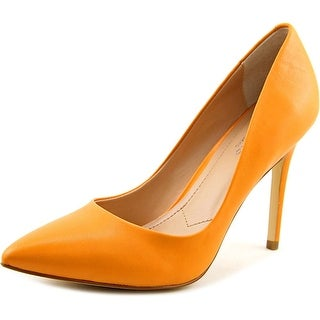 Charles By Charles David Pact Women Pointed Toe Leather Orange Heels