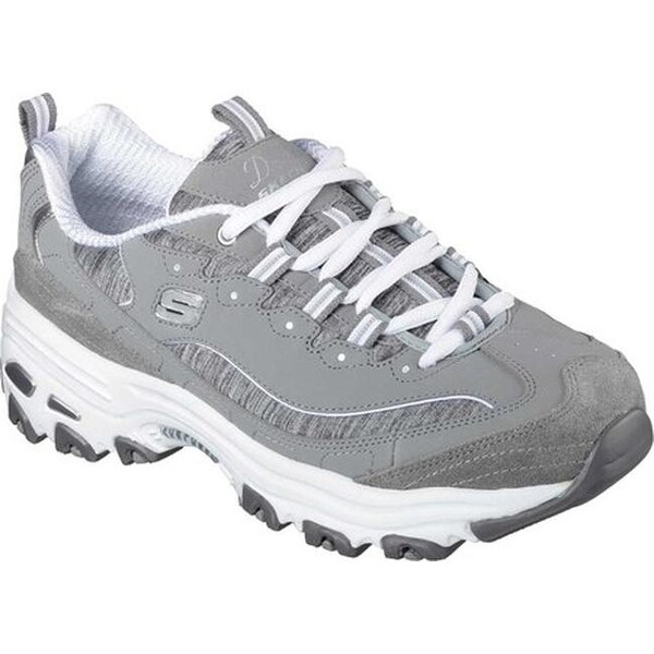 Skechers D'lites Me Time Black White Womens Trainers Shoes