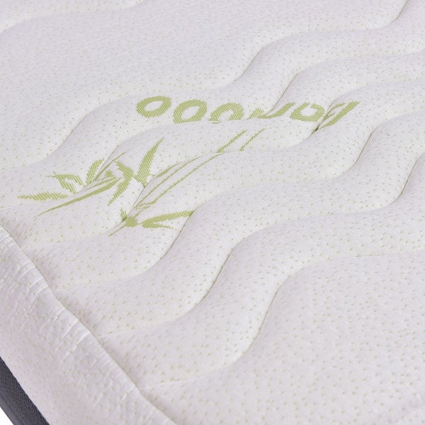 "NEW Full Size 10/"" Memory Foam Bamboo Fiber Cover Mattress Pad Bed Topper"