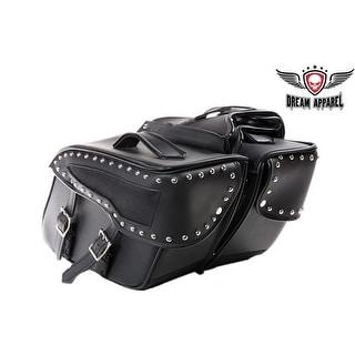 PVC Motorcycle Saddlebag With Studs