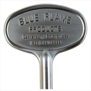 "Blue Flame BF.KY.06 Gas Valve Key, 3"", Satin Chrome"