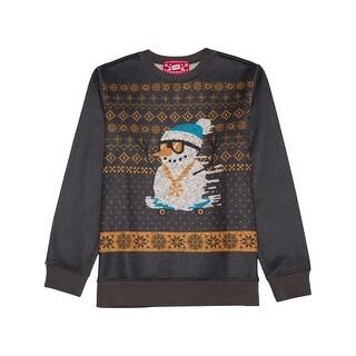 Hybrid Boys Snowman Crew Sweatshirt Winter - XL