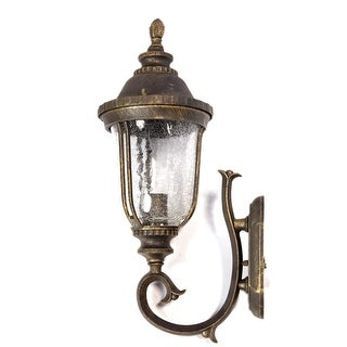 Deluxe Cackled Glass With Water Gold Brown Colored Outdoor Wall Light
