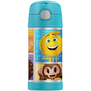 Thermos FUNtainer Sports Bottle, Emoji the Movie, Blue, 12 Ounces