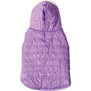 Lilac Medium - Dog Reversible Hooded Coat