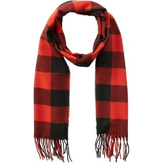 Link to Tickled Pink Red & Black Buffalo Check Fringe Scarf Similar Items in Scarves & Wraps