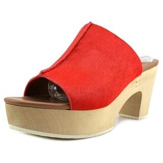 Elie Tahari Tortuga   Open Toe Suede  Platform Sandal