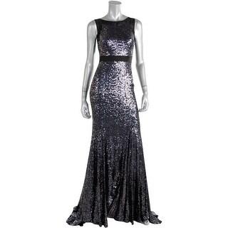 Badgley Mischka Womens Mesh Embellished Semi-Formal Dress - 14
