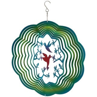Sunnydaze 12-Inch Reflective Nature Inspired Whirligig Wind Spinner - Multiple Designs