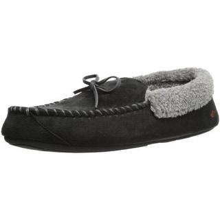 Dockers Mens Microsuede Memory Foam Moccasin Slippers