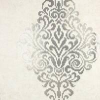 Brewster 2542-20749 Lux Silver Foil Damask Wallpaper - N/A