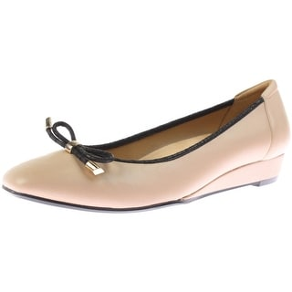 Naturalizer Womens Dove Flats Contrast Trim Leather