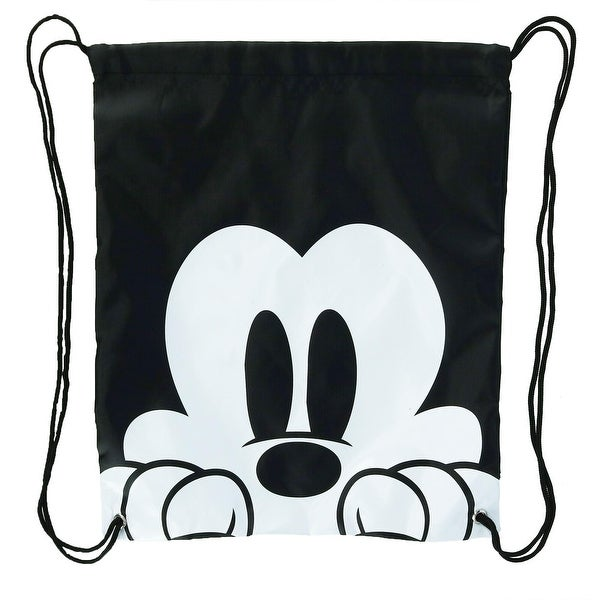 f3f6fa4adf1 Shop Disney Mickey Mouse Face Drawstring Tote Backpack - one size ...
