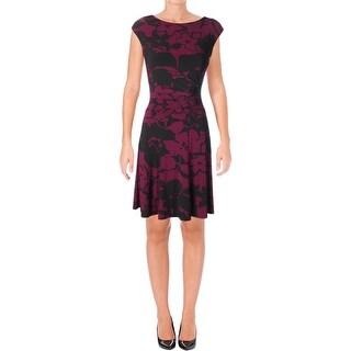 Lauren Ralph Lauren Womens Wear to Work Dress Floral Print Jersey