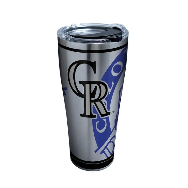MLB Colorado Rockies Genuine 30 oz Stainless Steel Tumbler with lid