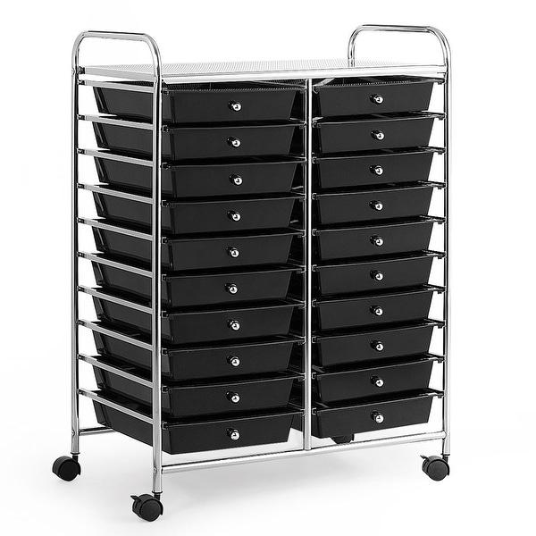 20-Drawer Organizer Cart Office School Storage Cart Rolling Drawer. Opens flyout.