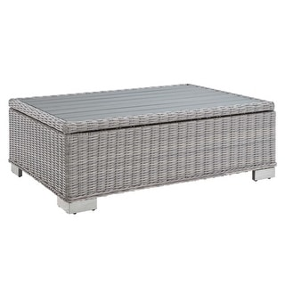 """Link to Conway 45"""" Outdoor Patio Wicker Rattan Coffee Table Similar Items in Outdoor Sofas, Chairs & Sectionals"""