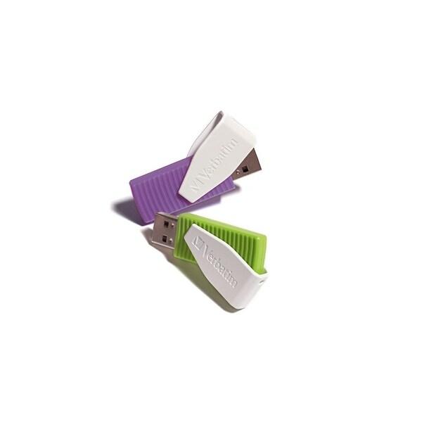Verbatim VER98425b Verbatim Store 'n' Go 16 GB Swivel USB Drive 2-Pack, Green/Violet 98425
