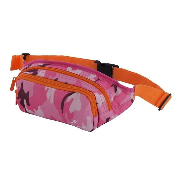 Wellhouse Authorized Running Hiking Holder Sports Waist Bag Camouflage Fuchsia