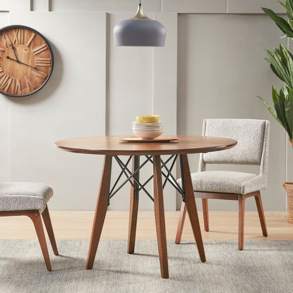 Clark Pecan Round Dining/Pub Table by INK+IVY. Opens flyout.
