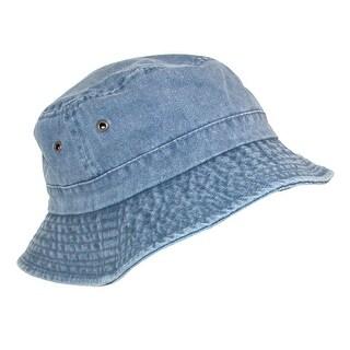 Dorfman Pacific Kids' Cotton Lightweight Bucket Sun Hat - Small/Medium