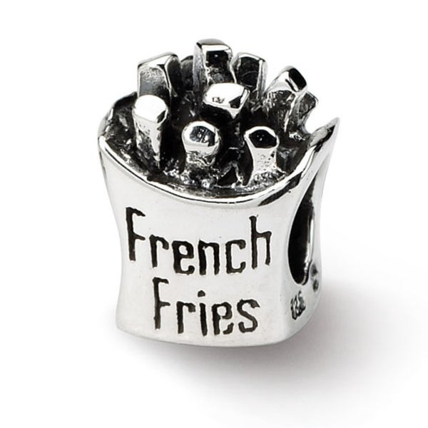 Sterling Silver Reflections French Fries Bead (4mm Diameter Hole)