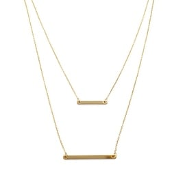HONEYCAT Double Layer Bar Necklace