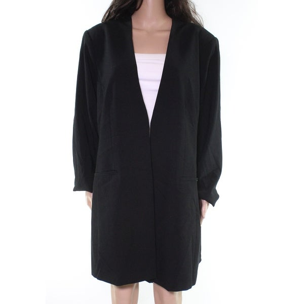 Calvin Klein Womens Jackets Black Size 16W Plus Collarless Solid. Opens flyout.