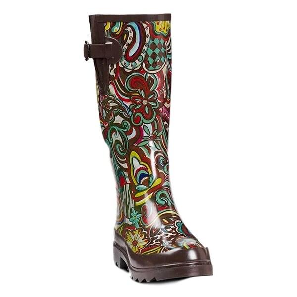 Blazin Roxx Western Outdoor Boots Womens Bonnie WP Rubber Multi
