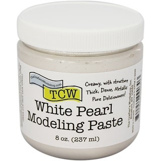 Crafter's Workshop Modeling Paste 8Oz-White Pearl
