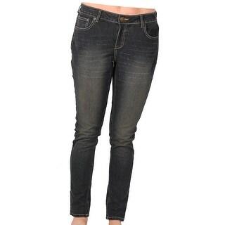 Zana-Di Womens Junior Plus Fashion Jeans, Dark Sandwash