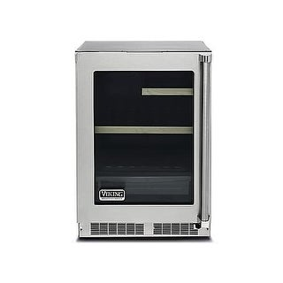 Viking VRUI5240GL 24 Inch Wide 5.3 Cu. Ft. Undercounter Refrigerator with Left D