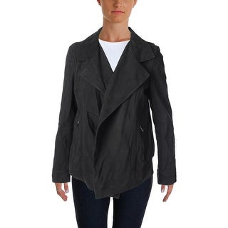 Pure DKNY Womens Lamb Leather Long Sleeves Jacket