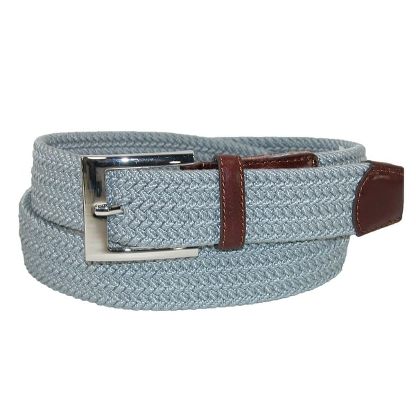 PGA TOUR Men's Fabric Braided Stretch Golf Belt with Leather End Tabs