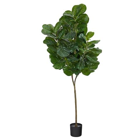 "6' Fiddle Leaf Fig Artificial Tree - 6"""