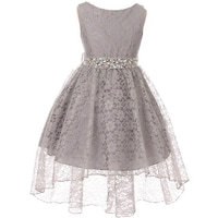 45fedbb2f Shop BNY Corner Flower Girl Dress Lace Hi-Low with Rhinestone Belt ...